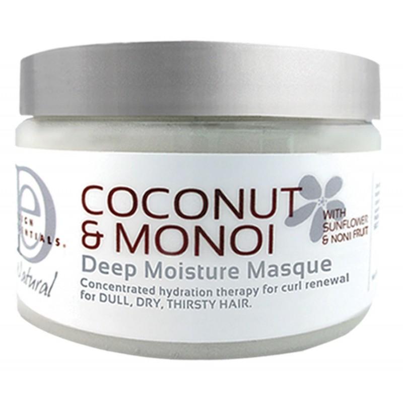 Masque super hydratant de design essentials pour prendre soin des cheveux crépus, bouclés, frisés et ondulés