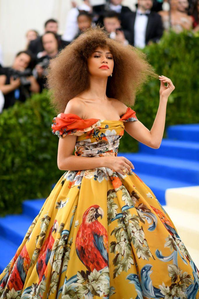 Met gala, cheveux crépus, idée coiffure cheveux crépus, stars cheveux afro, nappy célébrités.