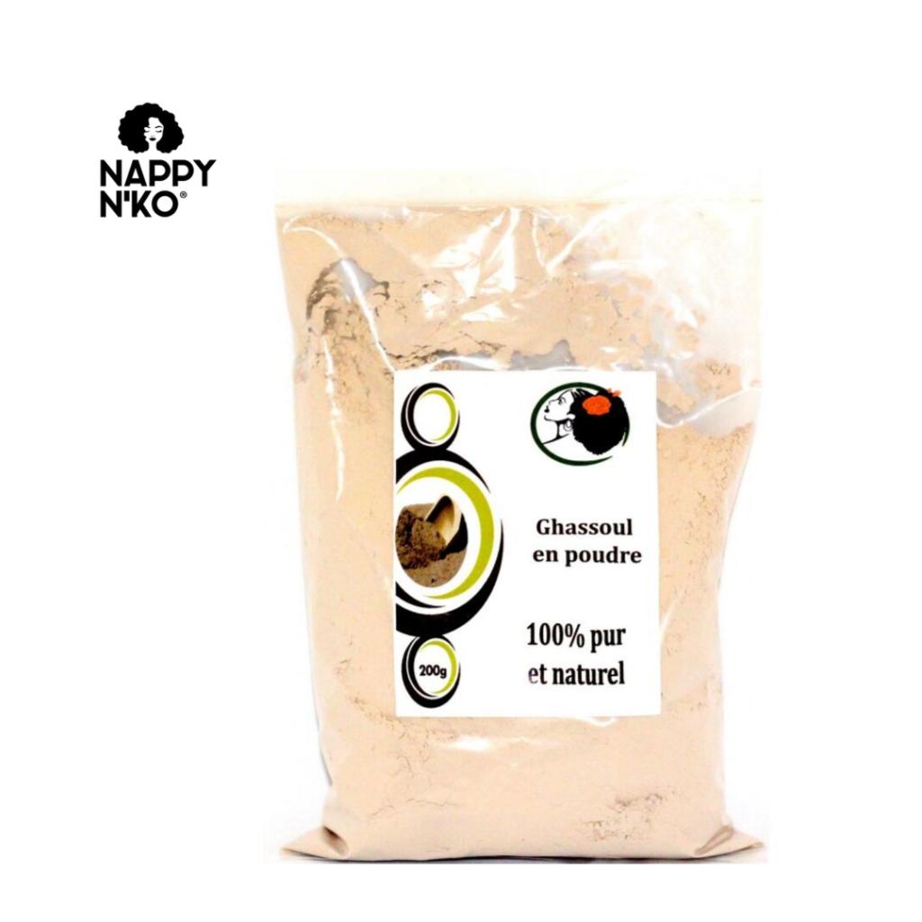 ghassoul en poudre 100% pur et naturel de Nappy N'ko pour prendre soin de ses locks