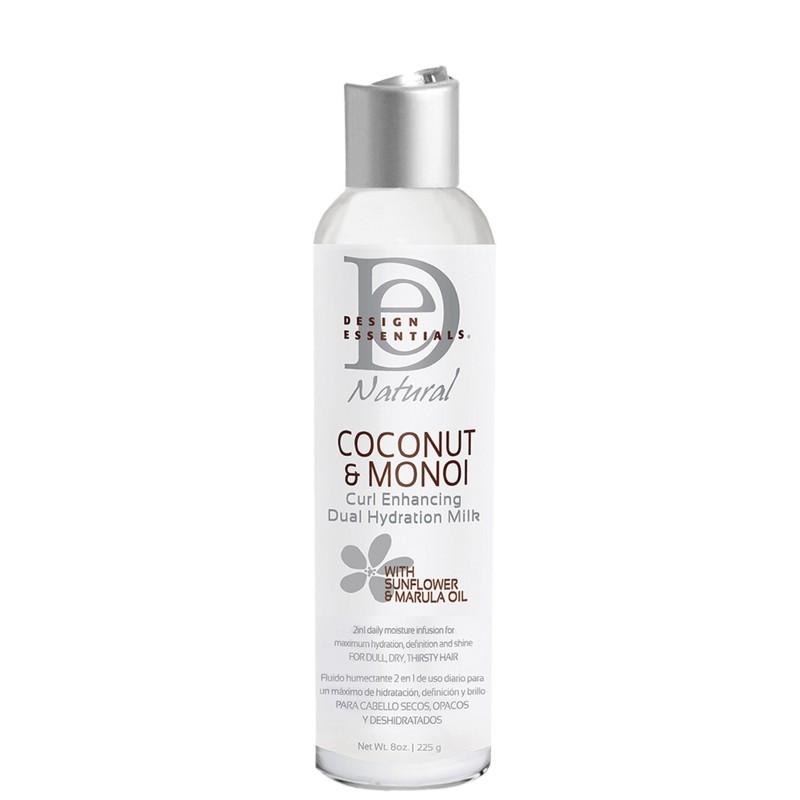 Photo du lait hydratant définition à la noix de coco et au monoï de Design Essentials. Idéal pour les cheveux crépus et bouclés