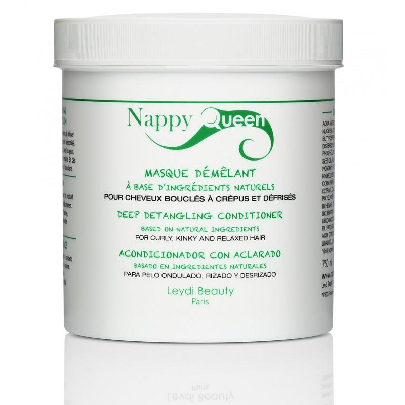 Masque démêlant et protéiné de Nappy Queen pour renforcer les cheveux crépus, bouclés, ondulés et frisés