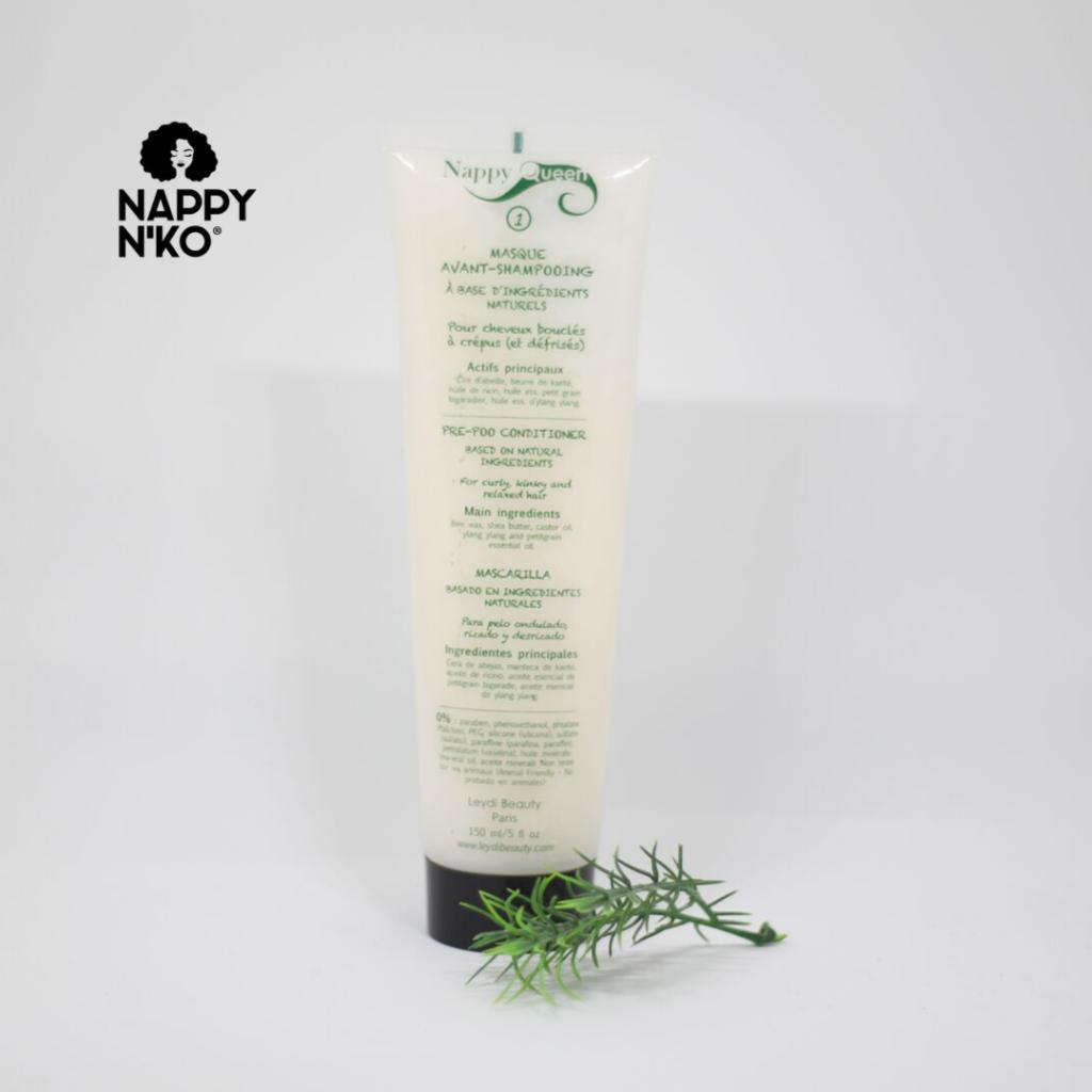 Masque avant shampoing pour réaliser un pré poo sur cheveux crépus, frisés, bouclés et ondulés