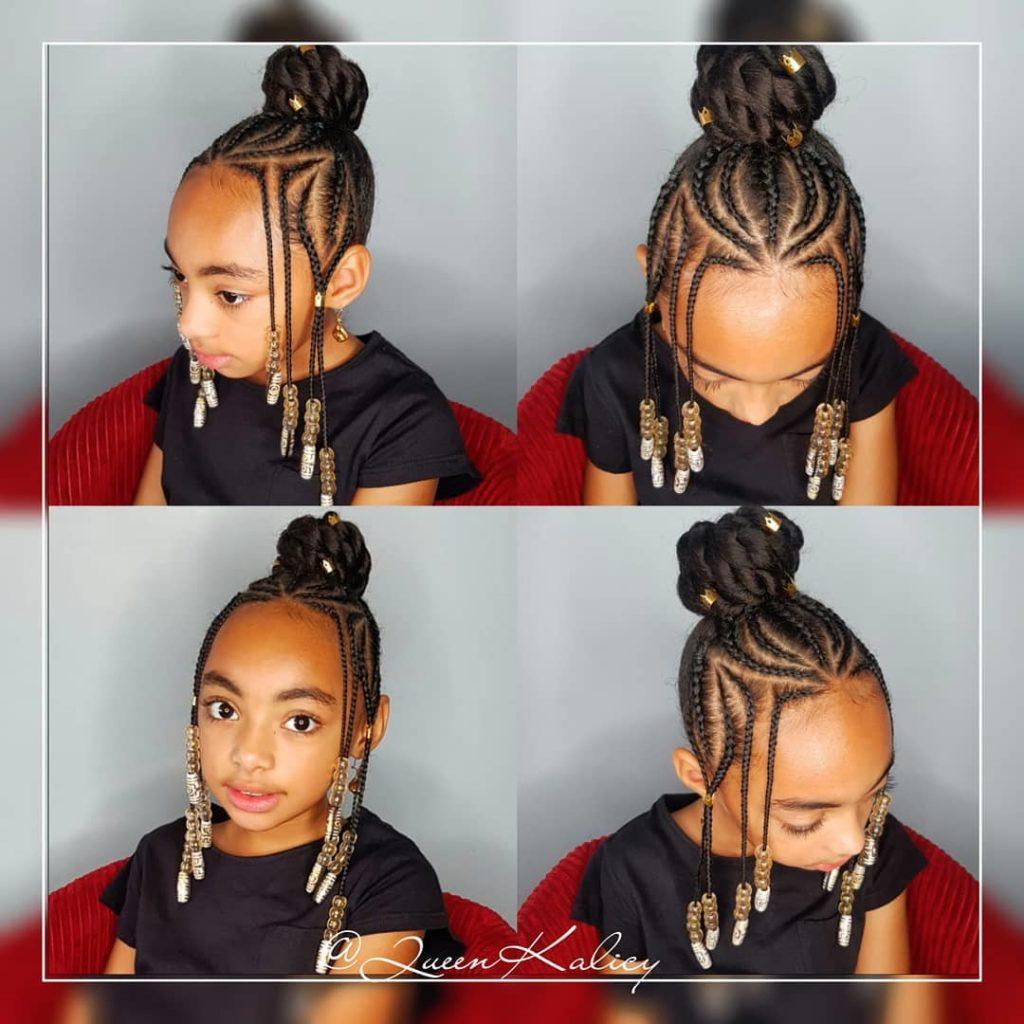 Jeune Cheveux crépus : idées coiffures pour enfants pour les fêtes de RJ-27