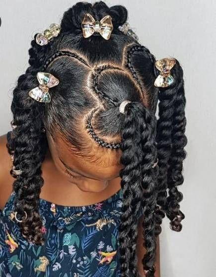 idée coiffures pour enfants sur cheveux naturels