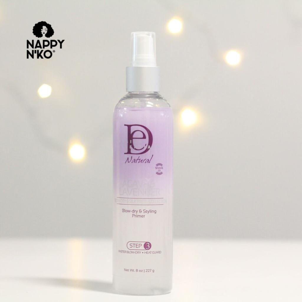 Spray capillaire Design Essentials protecteur de chaleur pour cheveux crépus