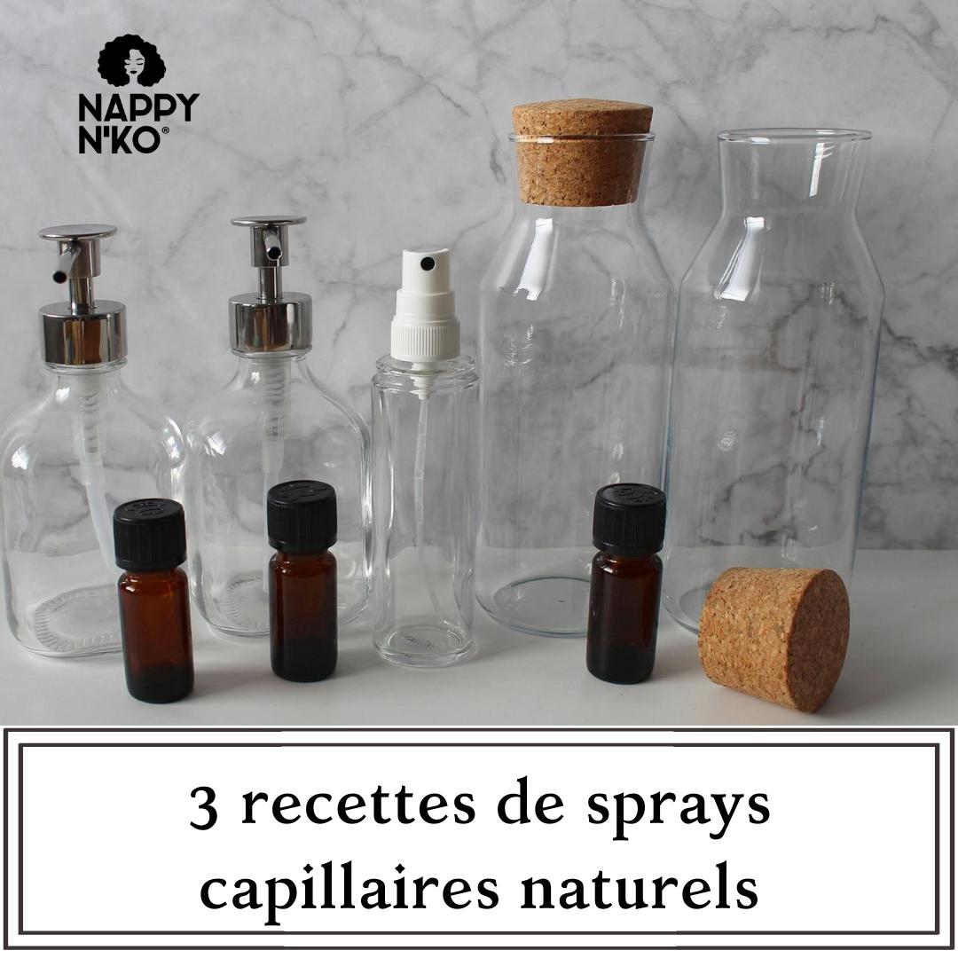 recettes de sprays capillaires pour cheveux crépus