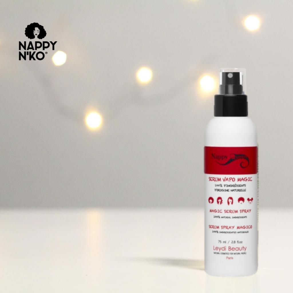 Spray capillaire Nappy Queen nourrissant et protecteur pour cheveux crépus