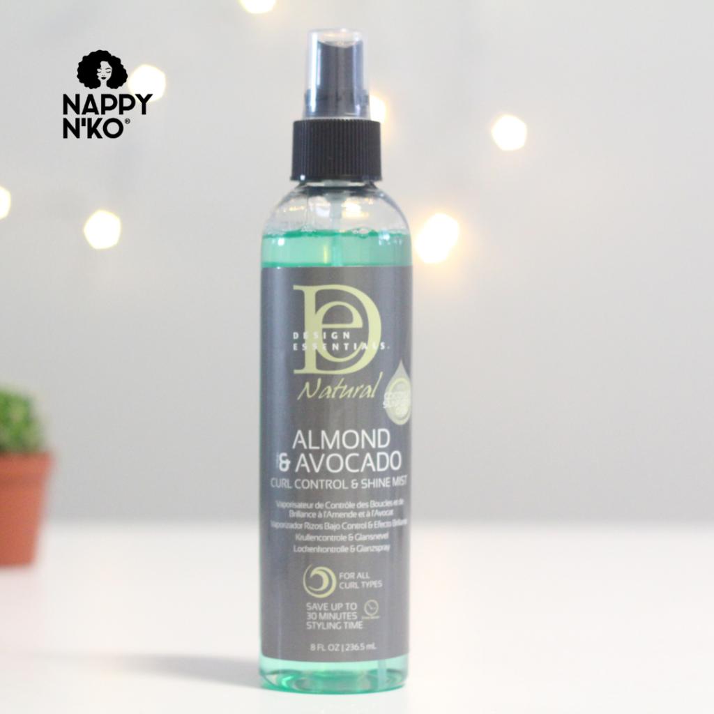 Spray brillance - Design Essentials routine capillaire printemps cheveux crépus
