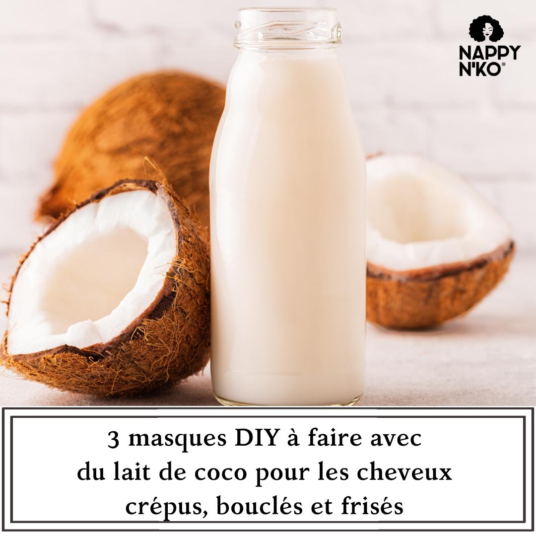 3 masques DIY à faire avec du lait de coco