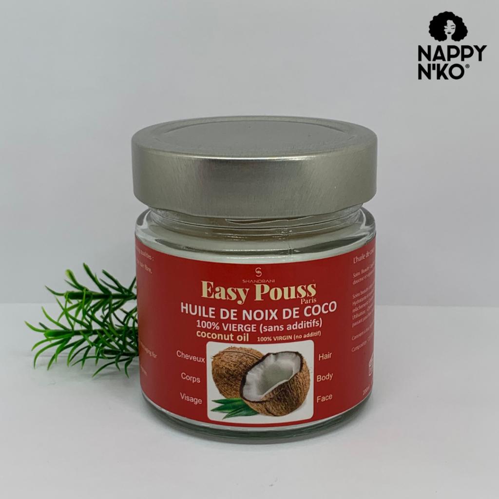 Huile de noix de coco 200 ml - Easy Pouss  ortie cheveux crépus